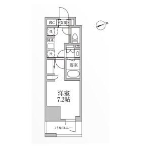 台東區小島-1K公寓大廈 房間格局