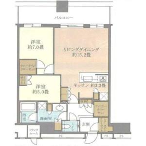 2LDK Mansion in Kosugimachi - Kawasaki-shi Nakahara-ku Floorplan