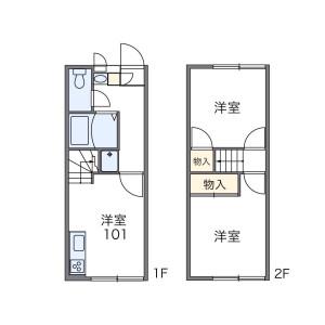 世田谷区 尾山台 2DK アパート 間取り