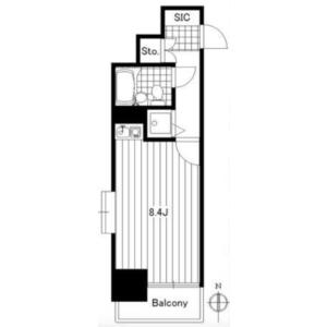 1R {building type} in Hanakawado - Taito-ku Floorplan