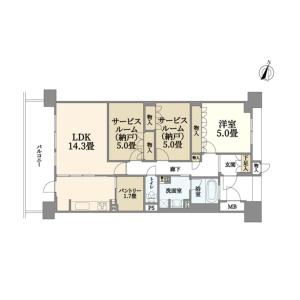 3LDK {building type} in Semba nishi - Mino-shi Floorplan