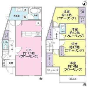 4LDK House in Okubo - Yokohama-shi Konan-ku Floorplan