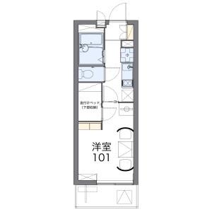 1K Apartment in Mori - Yokohama-shi Isogo-ku Floorplan