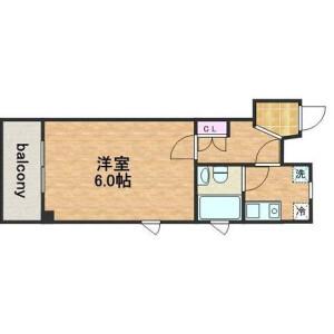 1K Apartment in Uchihiranomachi - Osaka-shi Chuo-ku Floorplan