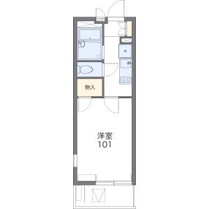 1K Mansion in Mizonokuchi - Kawasaki-shi Takatsu-ku Floorplan
