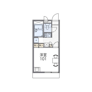 1K Mansion in Tennojichominami - Osaka-shi Abeno-ku Floorplan