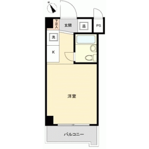 1R {building type} in Nishikicho - Tachikawa-shi Floorplan
