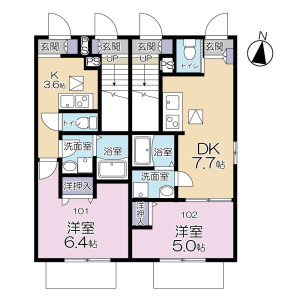 1DK Apartment in Wakabacho - Chofu-shi Floorplan
