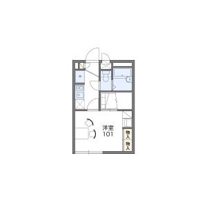 1K Apartment in Tajima - Saitama-shi Sakura-ku Floorplan