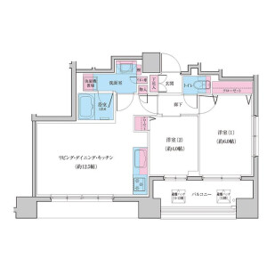 2LDK Mansion in Higashinippori - Arakawa-ku Floorplan