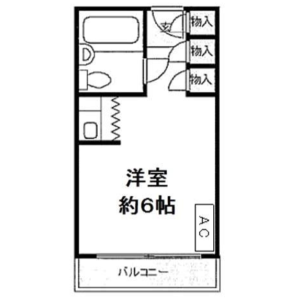 1R {building type} in Kandasurugadai - Chiyoda-ku Floorplan