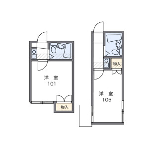 1R Apartment in Mori - Yokohama-shi Isogo-ku Floorplan