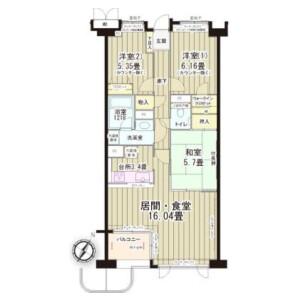 目黒区目黒-3LDK公寓大厦 楼层布局