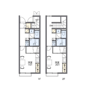 1K Apartment in Hoyacho - Nishitokyo-shi Floorplan