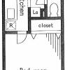 在世田谷區內租賃1K 公寓 的房產 房間格局