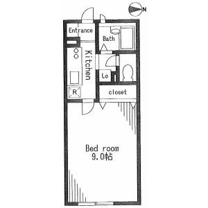 世田谷區玉川台-1K公寓 房間格局