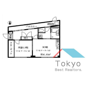 1DK Mansion in Koenjiminami - Suginami-ku Floorplan