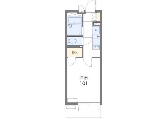 在横濱市西區內租賃1K 公寓大廈 的房產 房間格局