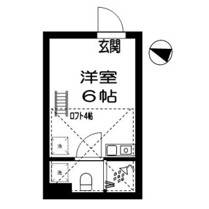 1R Apartment in Saginomiya - Nakano-ku Floorplan