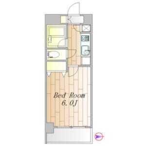 品川区東五反田-1K公寓大厦 楼层布局