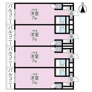 1R Mansion in Miyukicho - Tokorozawa-shi Floorplan