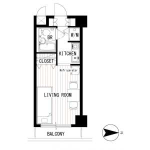 1K Mansion in Shiratori - Katsushika-ku Floorplan