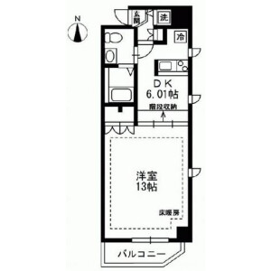 1DK Mansion in Taito - Taito-ku Floorplan