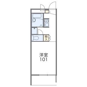 1K Apartment in Kurihara - Adachi-ku Floorplan