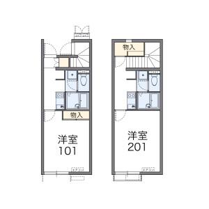 1K Apartment in Hiyoshikura - Tomisato-shi Floorplan