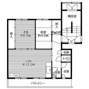 2LDK Mansion in Tsukisamu higashi1-jo - Sapporo-shi Toyohira-ku Floorplan