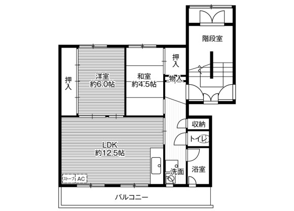 2LDK Apartment to Rent in Sapporo-shi Toyohira-ku Floorplan