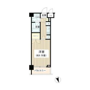 1K Mansion in Tomigaya - Shibuya-ku Floorplan