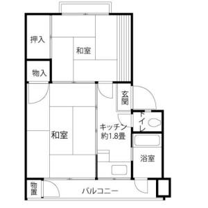 2K Mansion in Soshigaya - Setagaya-ku Floorplan