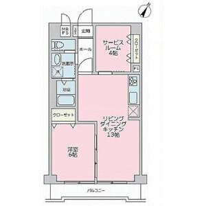 1SLDK {building type} in Yayoicho - Yokohama-shi Naka-ku Floorplan