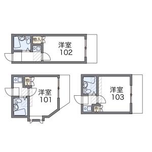 1K Apartment in Higashiomiya - Saitama-shi Minuma-ku Floorplan