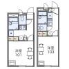1K Apartment to Rent in Osaka-shi Naniwa-ku Floorplan