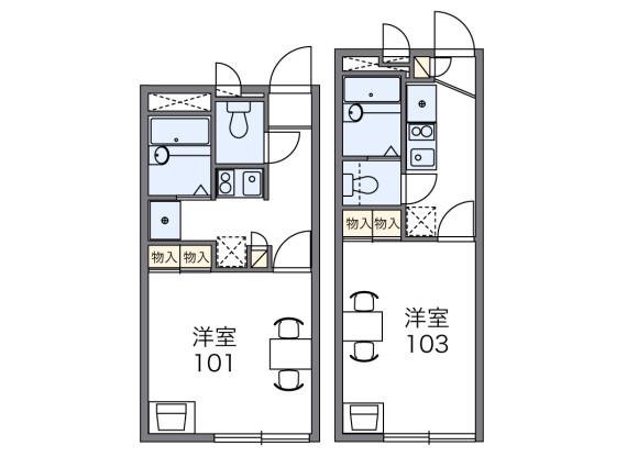 在大阪市浪速區內租賃1K 公寓 的房產 房間格局