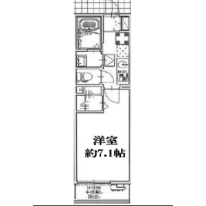 1K Mansion in Yutakacho - Shinagawa-ku Floorplan