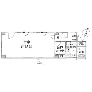 1SK Apartment in Sugamo - Toshima-ku Floorplan