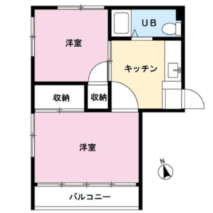 2K Apartment in Kitashinagawa(1-4-chome) - Shinagawa-ku Floorplan