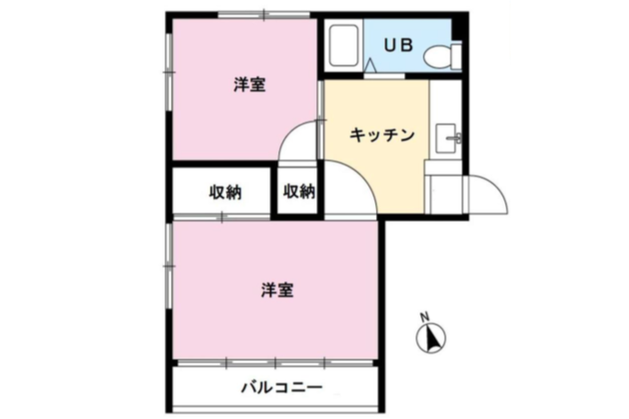 2K Apartment to Buy in Shinagawa-ku Floorplan