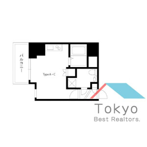 1R Mansion in Mita - Minato-ku Floorplan