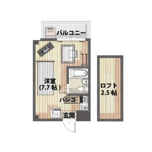 1R Mansion in Kamitammachi - Yokohama-shi Kanagawa-ku Floorplan
