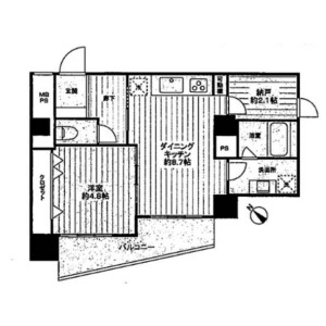 1SDK Mansion in Higashinippori - Arakawa-ku Floorplan