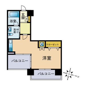 1R Mansion in Hatagaya - Shibuya-ku Floorplan