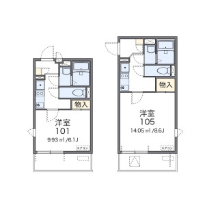 1K Mansion in Kimmeicho - Soka-shi Floorplan