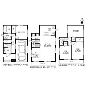 3SLDK House in Yokomizo - Mizuma-gun Oki-machi Floorplan