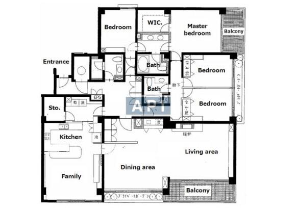 在品川區內租賃4LDK 公寓 的房產 房間格局