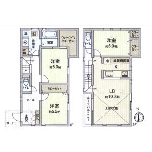 3LDK House in Tatenocho - Nerima-ku Floorplan