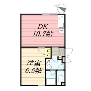 1LDK Mansion in Honan - Suginami-ku Floorplan